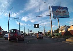 Видеорегистратор для мотоцикла FOXeye GC1 - День, город